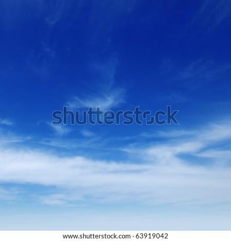 beautiful white clouds - Shutterstock ID 63919042