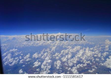 beautiful white clouds in blue sky #1111581617