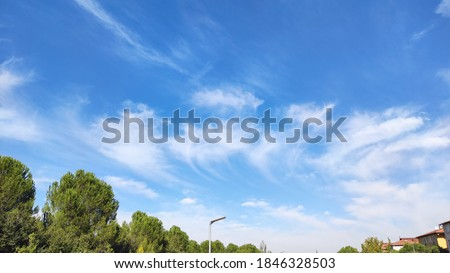 Beautiful white clouds view in blue sky Stok fotoğraf ©