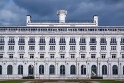 Beautiful white neo-classicism architecture  sanatorium