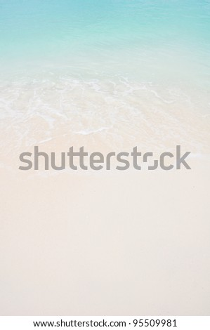 Beautiful white sand beach and tropical sea ,background #95509981