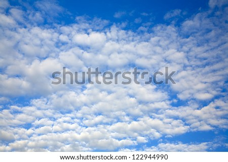 Beautiful white summer clouds as interesting  sky background