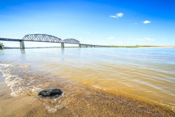 Beautiful, wide Missouri River, USA