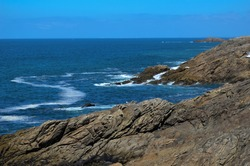 Beautiful wild coast near Lorient in Brittany, france