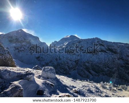 Beautiful winder mountains in Austria #1487923700