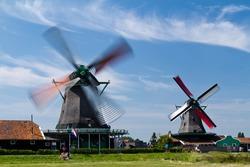 Beautiful windmill landscape in Holland