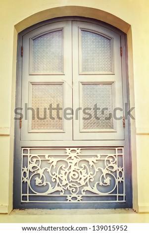 Beautiful window process in vintage style