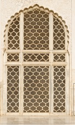beautiful windows with ornaments in islamic style