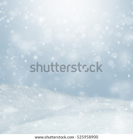 Beautiful winter background. Landscape with bokeh. #525958900