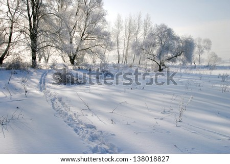 Beautiful winter landscapes taken on a clear day #138018827