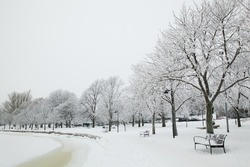 Beautiful winter scenery from Helsinki, Finland