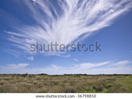 Beautiful winter sky in Western Australia, Australia