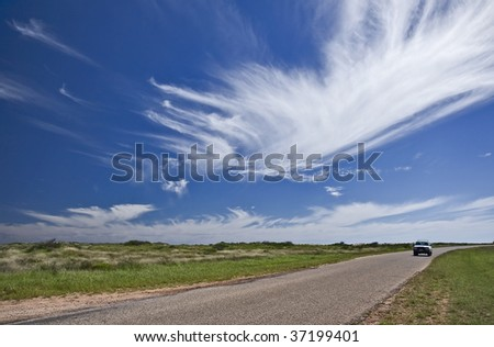 Beautiful winter sky in Western Australia, Australia - stock photo