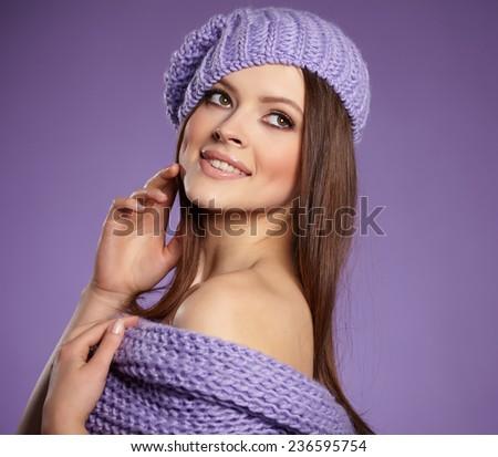 Beautiful winter woman in warm clothing  #236595754