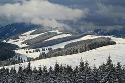 Beautiful winterlandscape in the mountains of Austria