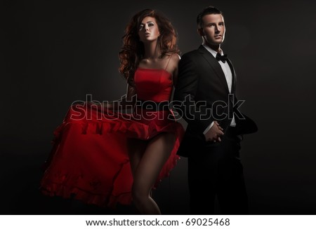 Beautiful woman and handsome man #69025468