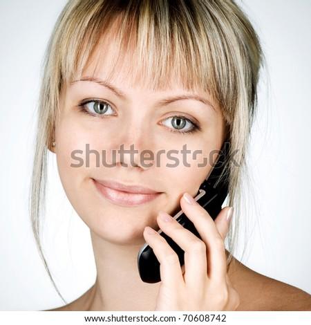 Beautiful woman calling by phone