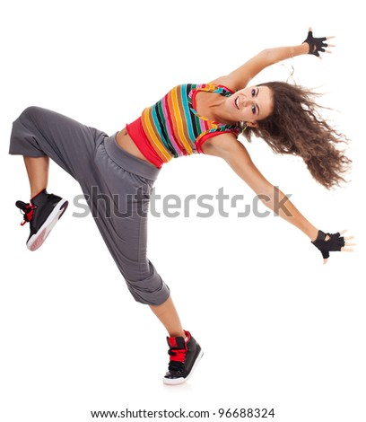 Cool Hip Hop Dance Poses Beautiful woman dancer in hip
