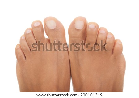Beautiful woman feet - close up on toes