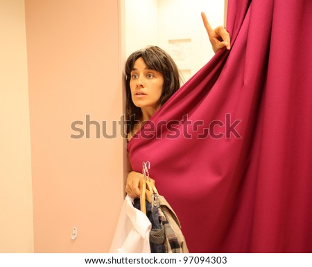 Beautiful woman in a dressing room