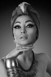 Beautiful woman in a turban