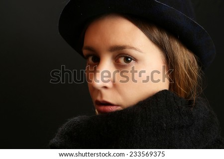 a08cb620ad8 Beautiful woman in hat