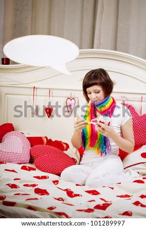 Beautiful woman is sick - stock photo