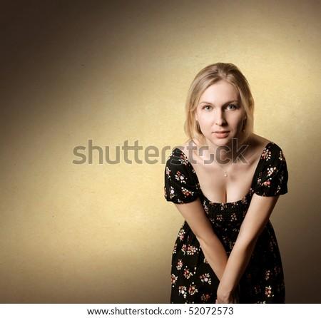 Beautiful woman looking at camera