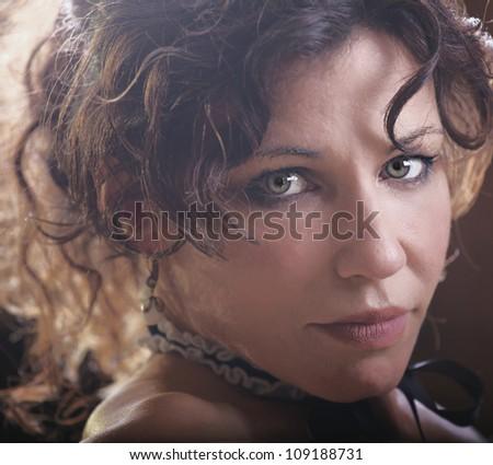 Beautiful woman looking at you