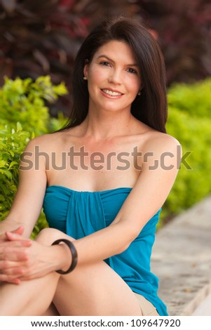 Beautiful woman outdoor portrait.