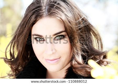 Beautiful woman portrait - outdoors