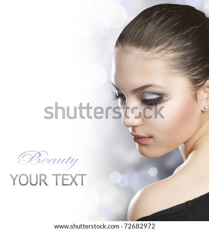 Beautiful Woman Portrait over white