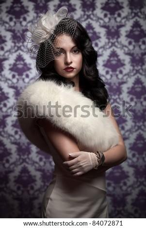 Beautiful Woman.Retro Styled Soft Portrait - stock photo
