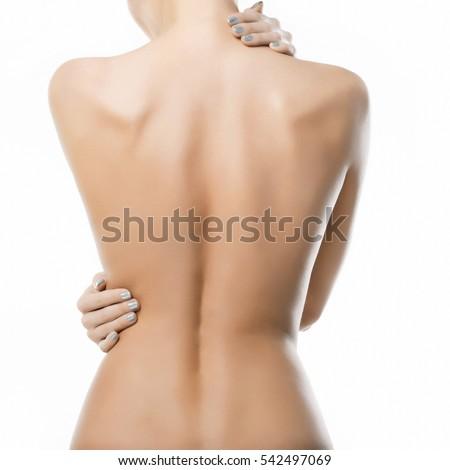 beautiful woman's body on white ...
