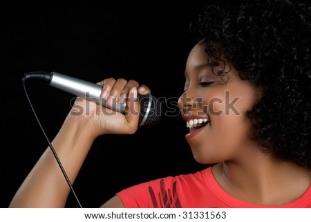 Beautiful Woman Singing