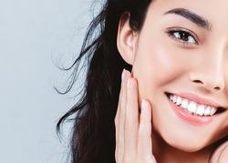 Beautiful woman skincare  beauty face closeup portrait