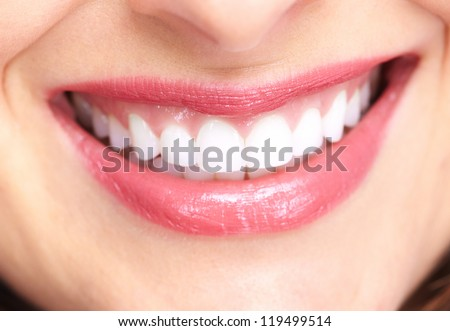 Beautiful woman smile isolated on white background.