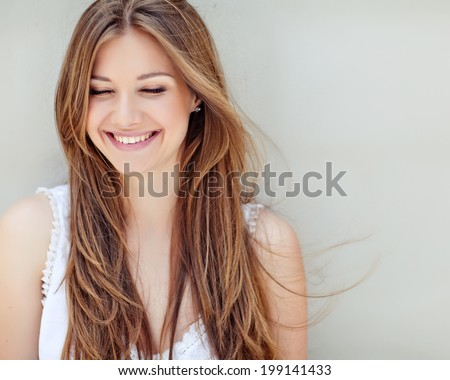 Stock Photo Beautiful woman smiling