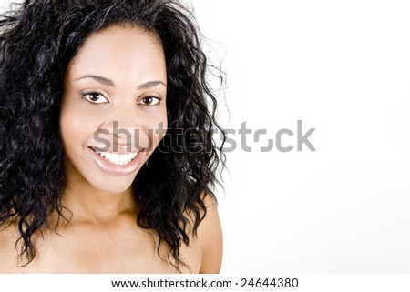 Beautiful woman with happy smile