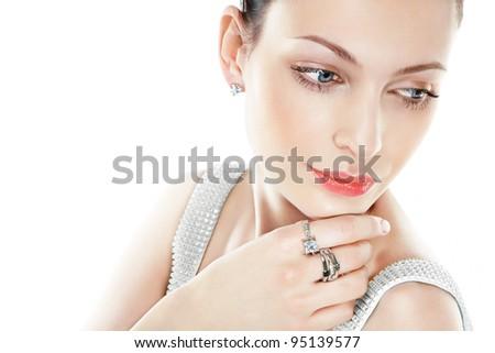 Beautiful woman with jewellry