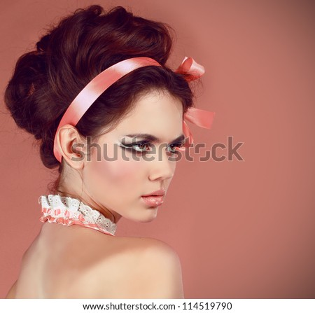 Beautiful woman with make-up and hair style