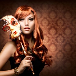 Beautiful Woman with the Carnival mask.