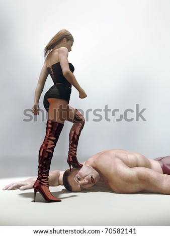 beautiful woman won strong manKarate Woman Beats Man