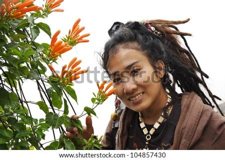 Beautiful Women Hair Flower Dreadlock