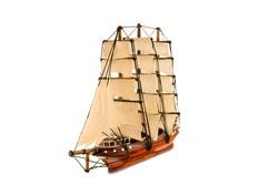 Beautiful wooden ship figurine