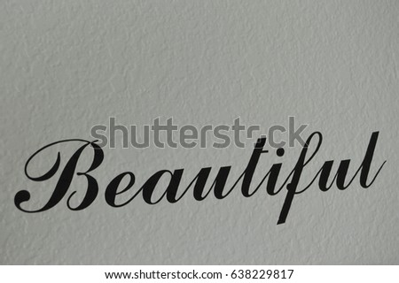 Beautiful Word In Cursive 638229817