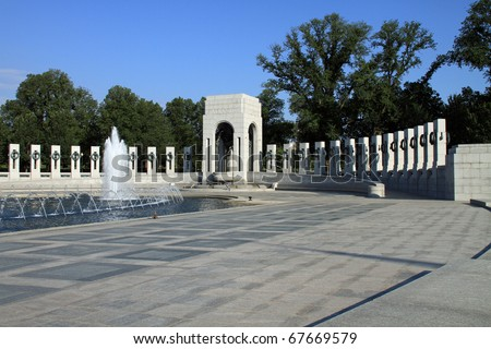 Beautiful World War II Memorial in Washington, DC
