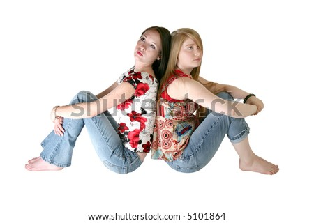 stock photo beautiful year old and year old teen sisters sitting back to back over white 5101864 you are buying a 3d hentai called. 3d hentai punishment to the girl thief