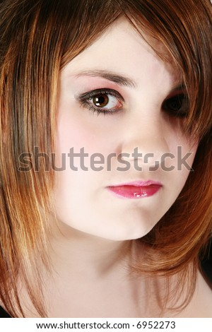 Beautiful 16 Year Old Girl In Goth Fashion Portrait Stock