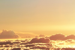 beautiful yellow sky background with a clouds